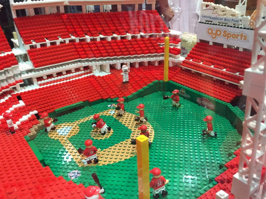 Lego Model of GREAT AMERICAN BALL PARK - CINCINNATI REDS