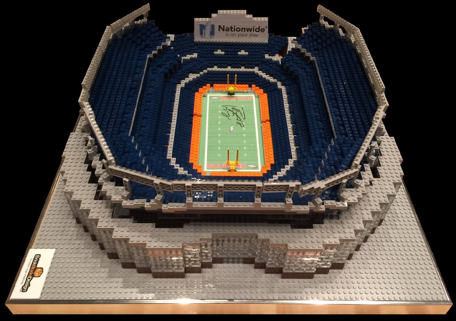 Lego Replica of Denver Broncos Stadium