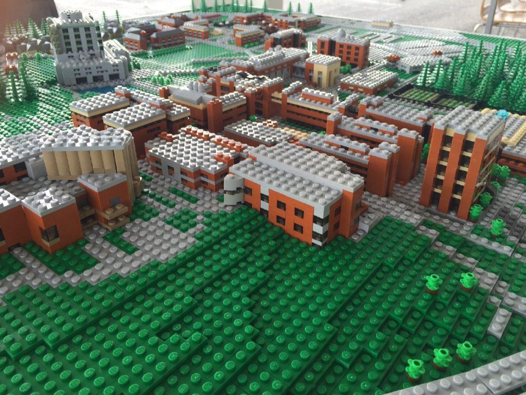 UMBC 50th Celebration - CAMPUS LEGO MODEL - Brick Model Design