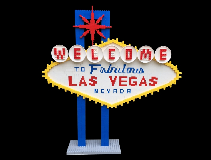 Welcome to Las Vegas Lego Sign